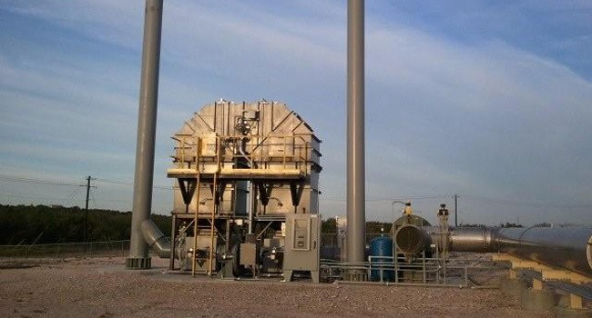 natural gas processing thermal oxidizer 1
